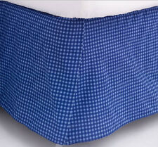 """Jumping Beans ExTreme BEDSKIRT 14"""" Drop Bed Skirt - BLUE Gingham Checked Plaid"""