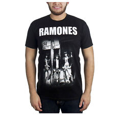 The Ramones Group Photo At CBGB Punk Rock Legends Band T-Shirt Black Mens S-XXL