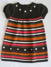 Gymboree Fall for Autumn Sweater Dress 2T NWT Fall Colors Stripes Flowers NEW