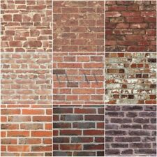 RED BRICK EFFECT WALLPAPER SUITABLE FOR ANY ROOM FEATURE WALL NEW FREE P+P