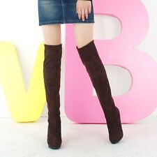 Womens Slouchy High Heel Over The Knee Thigh High Boots Knee Cosplay Shoes 5819