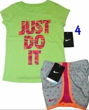 Under Armour Nike Shirt Shorts Set Girls Athletic Active Sport 2 pc Outfit Youth