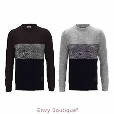 Brave Soul New Mens Knit Fashion Jumper Crew Neck Classic Winter Sweater S-Xl