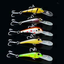 "1pc Fishing lures 2.7""-6.5cm/3.4g Crankbaits 5 color Fishing Bait 10# Hook Bass"