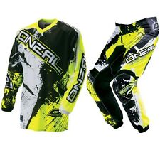 ONEAL MENS ELEMENT SHOCKER NEON MX MOTOCROSS JERSEY & PANT