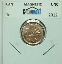 2012 Canadian One Cent Coin Uncirculated From A RCM Roll - Magnetic