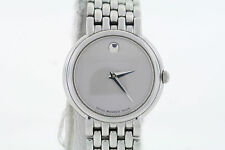 Ladies Movado 0605616 CERTA Stainless Steel Bracelet Silver Dial Watch