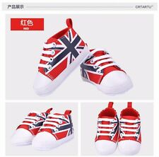 First Walkers Baby Shoes Baby Cotton Crib Shoes red British flag Sports shoes