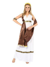 Ladies Greek Roman Grecian Goddess Toga Fancy Dress Outfit Womens Adult Costume