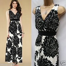 MONSOON Floral Giselle Beaded Waist Party Wedding Cocktail Jersey Maxi Dress