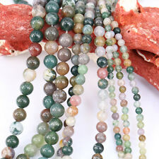 1Bunch Multi-Color India Agate Round Loose Bead Charm Pendant Necklace Jewelry