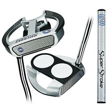 Odyssey Works Versa 2-Ball Fang W/SuperStroke Grip Putter NEW