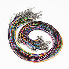 New Wholesale Lots Colorful Leather Cord Rope Necklace Lobster Clasp Chain