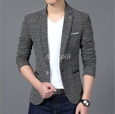Fashion Mens Casual Slim fit one Breasted party Casual Blazers Suits coat Jacket