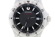 Men's Movado 2600115 Series 800 Performance Stainless Steel Black Dial Watch