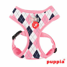 Dog Puppy Harness - Puppia - Argyle Collection - Pink - Choose Size