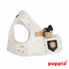 Dog Puppy Harness Soft Vest - Puppia - Modern Dotty - Ivory - Choose Size