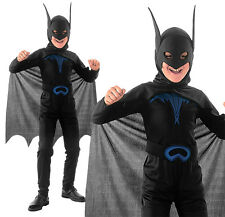 Childrens Kids Batman Fancy Dress Costume Halloween Book Week Outift 3-10 Yrs