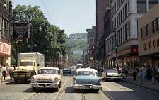 """Great Vintage 1950's Photo of Main St.Downtown Johnstown, PA  8""""x10"""""""