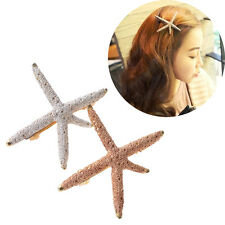 Girl Starfish Beach Sea Star Hairpin Hair Clip Barrette Fashion Hair Accessories