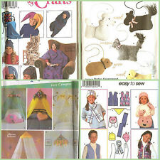 OOP Simplcity Sewing Pattern Childs Accessories Apparel Home You Pick