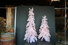 1920's Style Vintage Ostrich Feather Christmas Tree 60'' Real Pink Ostrich 5ft