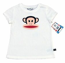 Paul Frank Girls Classic Julius Tee Shirt White Short Sleeve Crew T-shirt New