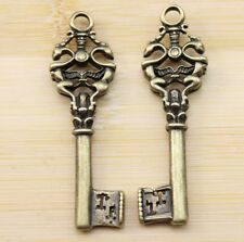 wholesale 6/20/60 pcs new Retro style lovely The key charms Pendants  51x15 mm