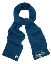 YUMI LADIES YAAA13 OWL CABLE KNIT SCARF TEAL RRP £30.00 VAR-SIZES