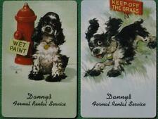 Butch Cocker Spaniel Dog Ignores Signs in Baltimore Maryland Swap Cards Vintage