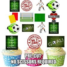 Fathers Day Football Themed - Fun Fully Edible Cup Cake Toppers Decorations
