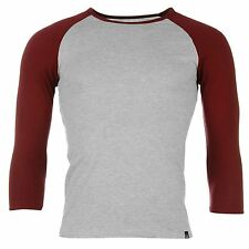 Jilted Generation Mens Basic Raglan T Shirt Crew Neck 3/4 Sleeve Tee Top