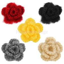20pcs 3-layer 5cm Handmade Crochet Flowers Appliques Sewing Craft Color Pick