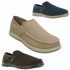 Crocs Santa Cruz Clean Cut Loafer Smart Casual Mens Canvas Pumps Shoes UK 7-12