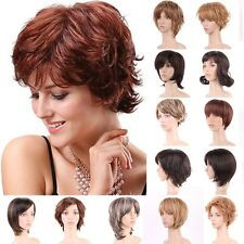 Vogue Daily Full Head Wig Long Thick Straight Curly Brown Blonde Black Gray Wigs