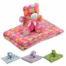 New Blanket and Toy Plush Teddy Bears and Puppies Baby Comforter Soft Hug Toys