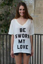 WILDFOX Couture Sworn My Love Oversized T Shirt in White
