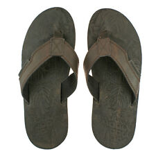 MENS URBAN BEACH THAR BROWN LEATHER TOE POST FLIP FLOP BEACH SANDALS SIZE 6 - 11