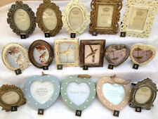 LARGE SELECTION VINTAGE STYLE METAL WOOD PHOTO FRAMES RECTANGLE OVAL HEART SHAPE
