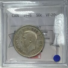 1946 Canadian Fifty Cent Coin Mart Graded VF-20