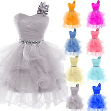 Short Mini One Shoulder Teens Formal Party Cocktail Prom Gown Homecoming Dress