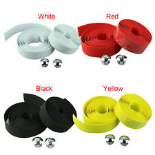 Cycling Handle Belt Bike Bicycle Cork Handlebar Anti-slip Tape Wrap +2 Bar Plug