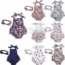 Baby Girls Toddlers Ruffle Lace Romper Vintage Summer Dress Tutu Photo Props