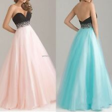 Women Sexy Strapless Maxi Party Bridal Gown Dresses Evening Organza Long Dress