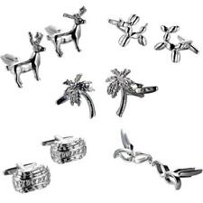 Men's Wedding Party Shirt Business Cufflinks Cuff Links Jewelry Silver Gift