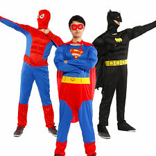 Gents Muscle Chest Superman Batman Spiderman Man Of Steel Fancy Dress Outfit Set