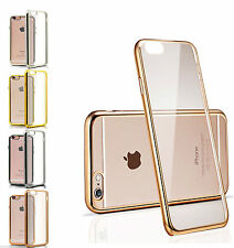 Silicone Shockproof Chrome Clear bumper gel case cover for Iphone 6S plus/6S