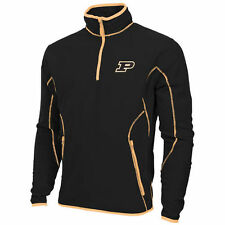 Mens Purdue Boilermakers Antigua Black Ice Quarter-Zip Fleece Jacket - College