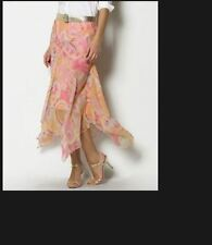 NWT RALPH LAUREN WOMEN Paisley Pink Silk Skirt 12P 14P Choose $139