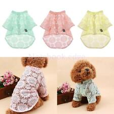 Breathable Pet Dog T-Shirt Clothes Puppy Cat Summer Apparel Outfit 3 Color 5Size